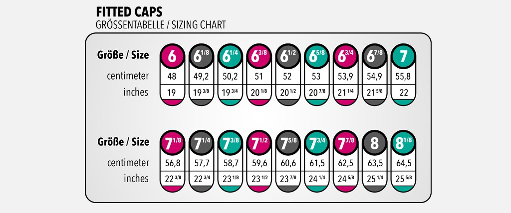 header-fitted sizing chart